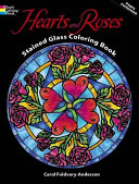 Pdf Hearts and Roses Stained Glass Coloring Book