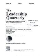 The Leadership Quarterly Book