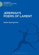 Jeremiah's Poems of Lament Pdf/ePub eBook