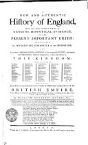 A New And Authentic History of England