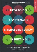How to Do a Systematic Literature Review in Nursing
