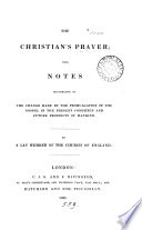The Christian s prayer  by a lay member of the Church of England  S  Hinds  In verse   Book