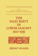 The Nazi party in Lower Saxony, 1921-1933