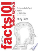 Studyguide for Edpsych: Modules by Lisa Bohlin, ISBN 9780078097867