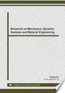 Research on Mechanics  Dynamic Systems and Material Engineering Book