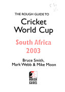 The Rough Guide To Cricket World Cup South Africa 2003