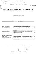 Mathematical Reports Book