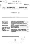Mathematical Reports