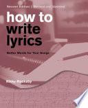How to Write Lyrics Book PDF