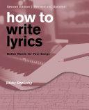 Pdf How to Write Lyrics Telecharger