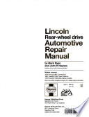Lincoln rear-wheel drive automotive repair manual