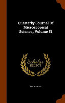 Quarterly Journal Of Microscopical Science