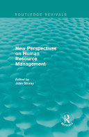 New Perspectives on Human Resource Management (Routledge ...