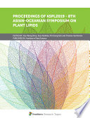 Proceedings of ASPL2019   8th Asian Oceanian Symposium on Plant Lipids Book