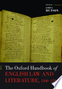 The Oxford Handbook Of English Law And Literature 1500 1700
