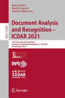 Document Analysis and Recognition   ICDAR 2021