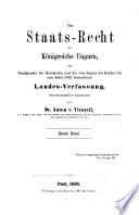 Das Staatsrecht des Königreichs Ungarn