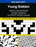 Young Sheldon Trivia Crossword Word Search Activity Puzzle Book