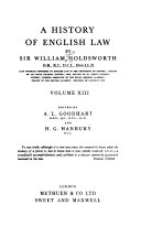 A History of English Law  Book 5  pt  1  continued  1793 1832