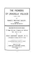 The Pioneers of Unadilla Village  1784 1840