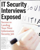 IT Security Interviews Exposed Book