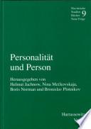 Personalität und Person