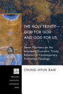The Holy Trinity--God for God and God for Us