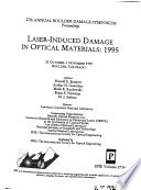 Laser Induced Damage in Optical Materials Book PDF