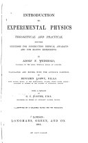 Introduction to Experimental Physics  Theoretical and Practical