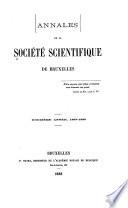 Annales de la Société scientifique de Bruxelles