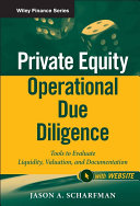 Private Equity Operational Due Diligence, + Website
