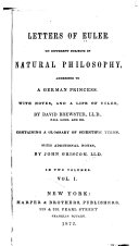 Pdf Letters of Euler on Different Subjects in Natural Philosophy