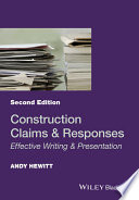 Book Cover: Construction Claims and Responses