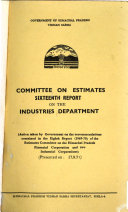 Report   Committee on Estimates