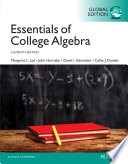 Essentials of College Algebra PDF eBook, Global Edition