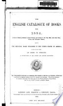 The English Catalogue of Books  annual  Book