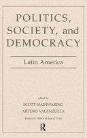 Politics Society Democracy Latin Ameri