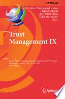 Trust Management IX Book PDF