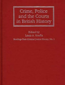 Crime Police And The Courts In British History