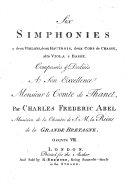 Six Simphonies à deux Violons, deux Hautbois, deux Cors de Chasse, alto Viola et Basse ... Oeuvre vii. [Parts.]