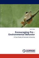 Encouraging Pro   Environmental Behavior