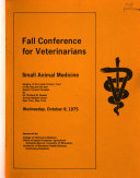 Fall Conference for Veterinarians   Small Animal Program