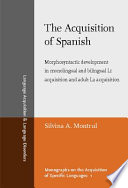 The Acquisition of Spanish