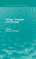 Energy, Foresight and Strategy Pdf/ePub eBook