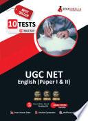 UGC NET English 2021   10 Full length Mock Test  Paper I   II    With Latest Exam Pattern Book