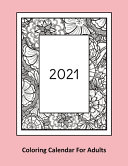 2021 Coloring Calendar For Adults