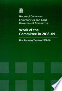 Work Of The Committee In 2008 09