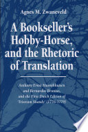 A Bookseller S Hobby Horse And The Rhetoric Of Translation