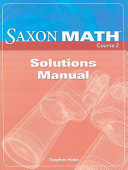 Saxon Math Course 2 Solutions Manual
