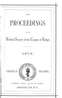 Proceedings of the Medical Society of the County of Kings